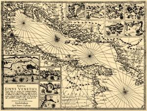 Karta Jadrana, 1595.
