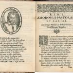 Sabo Bobaljević, Rime amorose, e pastorali, et satire