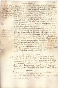 Libro deli Signori Chazamorbi, Sanitas  (Državni arhiv u Dubrovniku, serija 55, sv. 1, f. 22r a tergo)
