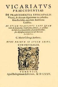 Kabužić, Vicariatus praecedentiae