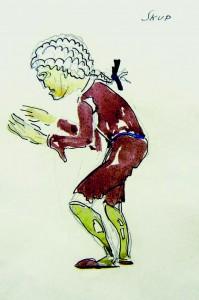 Babić, skice za kostim Skupa