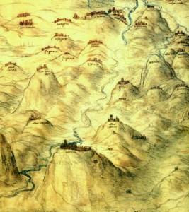 da Vinci, karta Toskane