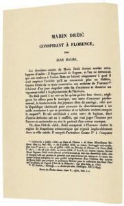 J. Dayre - Marin Držić conspirant à Florence