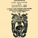 Horacije, Sermones
