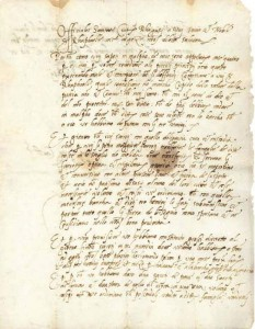 Pismo zdravstvene službe upućeno Rafaelu Nikolinu Gučetiću na Mljet 13. IX. 1528.  o pojavi kuge u Zatonu (Državni arhiv u Dubrovniku)