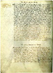 Oporuka Andrije Držića  (Državni arhiv u Dubrovniku, Testamenta Notariae, sv. 34, f. 56v)