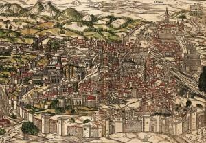 Rim, Sebastian Münster,1549.