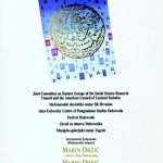 Programska knjižica međunarodnog simpozija  »Marin Držić i zlatno doba Dubrovnika«, 1989.