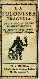 Trissino, La Sofonisba