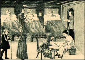 Unutrašnjost samostanskog infirmarija