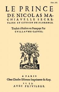 Machiavelli, Le Prince, 1553.